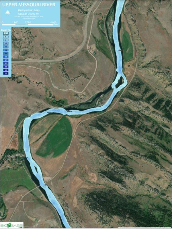 Mile 2 Bathymetric Map - 2019
